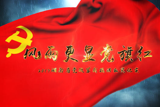 風雨更顯黨旗紅——2017湖南省黨政軍民抗洪救災紀實