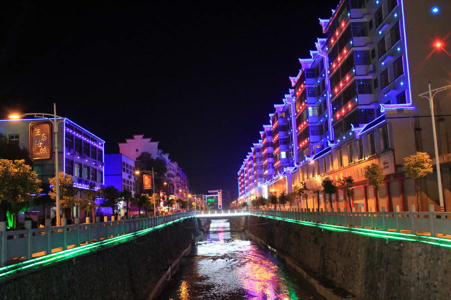 九塘江風光帶夜景