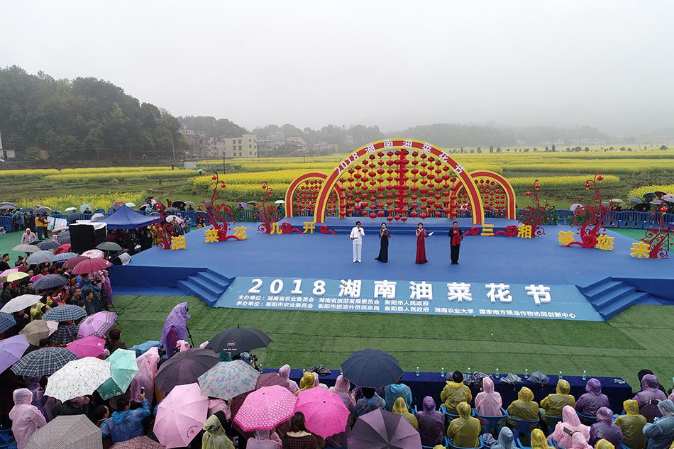 2018湖南首屆油菜花節在衡陽縣開幕