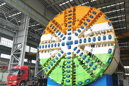 收件人印度:您境內最大直徑盾構機發出!