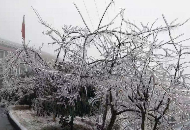 冷空氣來了!湖南的這裏迎來2020年第一場雪