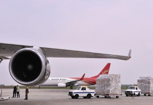 長沙首條歐洲全貨機航線開通 93.97%為防疫物質